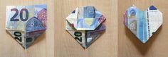 Tutorial/Anleitung: Geld falten Herzen – DIY Hochzeitsgeschenk im Bilderrahmen – edemioo – Kreativblog