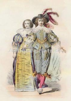 Costumes Francais, Règne De Louis XIII, D´après Bosse, 1633