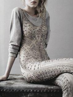 """""""An eternal glistening"""". Darya Kurovska in Alexnder McQueen photographed by Ben Toms"""