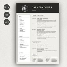 Resume Cv ~ Resume Templates on Creative Market