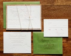 Rebecca + Jeffrey's Windswept Beach Wedding Invitations | Design: Tweedle Press | Photo: Tru Studio