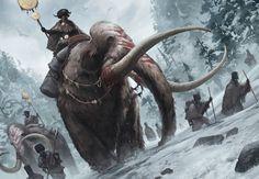 DEGENESIS / SIXMOREVODKA by EsbenLash | Fantasy mammoth mount winter snow