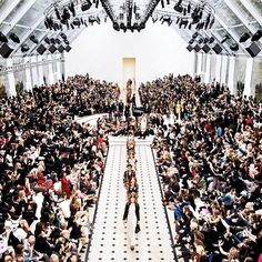 The view from above at Burberry SS16. See what our clients and more were up to for the latest fashion weeks http://www.londonfittingrooms.com/le-boudoir/fashion-weeks-ss16-trends-forecast