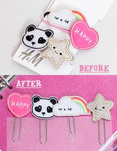 Cute Paperclip DIY for Filofax, Kikki K or other planners.