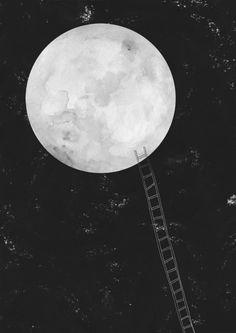 eu já falei pra Lua tanto de você, que até mesmo ela quer te conhecer. Bharbara Tomasi  Sobe lá, até ela...