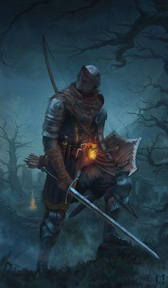 Tribute to the Dark Souls series by artist Manuel Castañón.