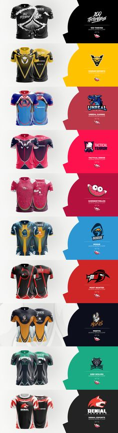 eSports Jersey Concepts on Behance