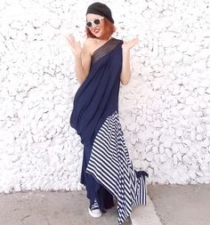 Black Plus Size Dress / Maxi Dress / Black Kaftan / by Teyxo