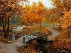 őszi táj híddal