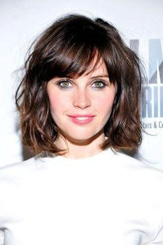 pictures of short curly haircuts rocking a lob hair lob 2929 | 3db0f8c73e5ef6e57639510386eb2929 long hairstyles with bangs hairstyles