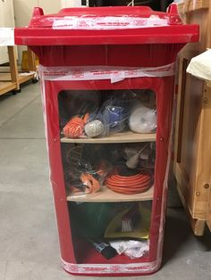 We have seriously cool emergency bins :o) Collection Manager, China Cabinet, Cool Stuff, Life, Home Decor, Decoration Home, Chinese Cabinet, Room Decor, Home Interior Design