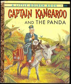 Captain Kangaroo and the Panda Vintage Little Golden Book TV Memorabilia. I still have this book! Captain Kangaroo, Vintage Children's Books, Retro Vintage, Vintage Kids, Antique Books, Vintage Barbie, Vintage Style, Kids Story Books, Children Stories