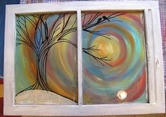 painted window by mindy
