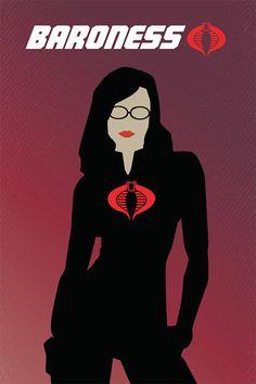 G.I. Joe Poster: Baroness (Minimalist Design)