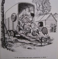 """I'll be glad when she gets interested in Boys!"" -- I LOVE Thelwell!"