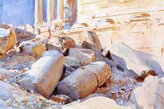 Baalbak (John Singer Sargent) 1905-1906 watercolor over pencil on paper