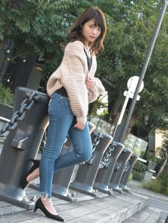 Asian Woman, Asian Girl, Skinny Asian, Girl Fashion, Womens Fashion, Jeans Style, Tights, Turtle Neck, Skinny Jeans
