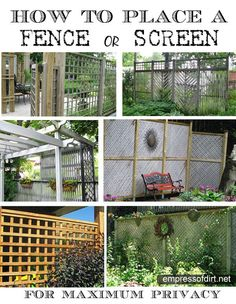 how to place a screen or fence for maximum privacy - there's an easy trick to it