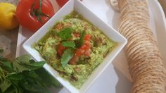 Guacamole and Mint Dip - Check out more at Mediterranian-Bites.com - A light, refreshing middle-eastern inspired cuisine and full of healthy ingredients!