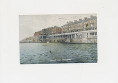 vintage color postcard of the Bathing Pool at Hartlepool, England, 1926 by mudintheUSA on Etsy