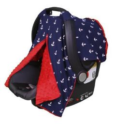 Includes snaps down the front to close! If you have a baby who uses an infant carrier, one of our new Car Seat Canopies is a must have. Featuring trendy prints