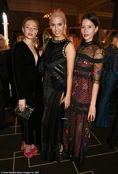 Style savvy: Clara Paget, Amber Le Bon and Jessamine-Bliss Bell showed off their flair for fashion