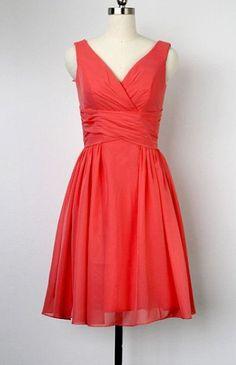 Coral bridesmaid dress- I love it!