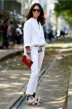 Como usar look branco total