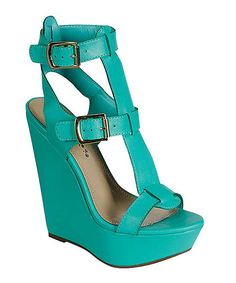 This Breckelle's Seafoam Green Vivi Platform Sandal by Breckelle's is perfect! #zulilyfinds