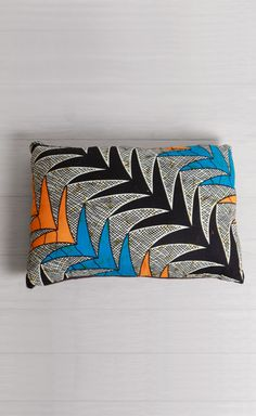 Teal Palm Hand-Sewn Pillow