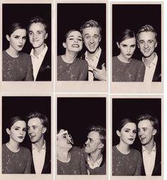 Emma Watson & Tom Felton.