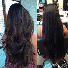 Love how it has dimension but she kept it dark and natural at the same time (Diy Hair Mechas)