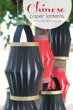 L'atelier des vacances : fabriquer des petites lanternes chinoises en papier - Plumetis Magazine