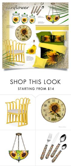 """""""Sunflowers!"""" by miss-image ❤ liked on Polyvore featuring interior, interiors, interior design, home, home decor, interior decorating, David Francis Furniture, Sunflower and Lorren Home Trends"""