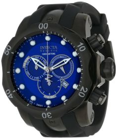 Invicta Men's F0003 Reserve Collection Venom Chronograph Gunmetal Ion-Plated Watch My 1st Invicta watch, 52mm, WR=1000m, 1.1pounds!