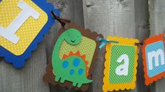 Dinosaur Theme Party Decorations I am 1 Banner