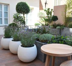 Accumulation de pots pour effet massif - Marie Claire Maison
