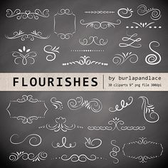 Check out Chalkboard flourishes clipart by burlapandlace on Creative Market