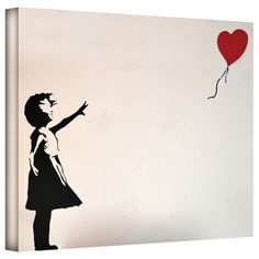 @Overstock.com - Artist: Banksy Title: Balloon Heart Girl Product type: Gallery-wrapped canvashttp://www.overstock.com/Home-Garden/Art-Wall-Banksy-Balloon-Heart-Girl-Gallery-wrapped-Canvas/7860748/product.html?CID=214117 $49.99