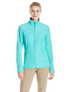 adidas outdoor Womens Hiking Reachout Fleece Jacket Vivid Mint Small ** Visit the image link more details. (This is an affiliate link) #womenscoatsjacketsvests