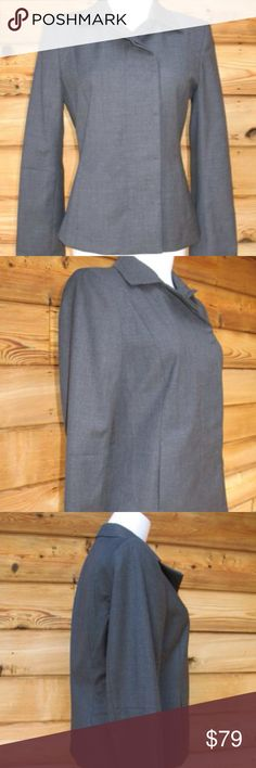 """J Crew NEW  Super 100's Wool Asymmetrical Jacket J Crew Super 100's Wool Asymmetrical Hidden Button Tailored Blazer Jacket, Charcoal, Size 8, New without Tags  ***Size and material tags are missing***  Details: J Crew Size: 8 Color: Charcoal Gray Suiting Two Front side pockets Hidden button closure Seamed front Seamed arms Fully lined  Measurements: Length: 23"""" Bust: 38"""" Waist: 34"""" Across Shoulders:15 1/2"""" Sleeve Length: 24 1/2 J. Crew Jackets & Coats Blazers"""