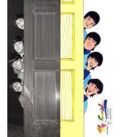 Beatles Cartoon on Saturday am. The Beatles History, The Beatles 1, Beatles Art, Liverpool, Cartoon Photo, Saturday Morning Cartoons, Pop Rock Bands, The Fab Four, British Invasion