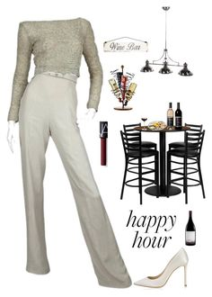 """""""Cheers 🍷"""" by kotnourka ❤ liked on Polyvore featuring Jimmy Choo, Flash Furniture, Poncho & Goldstein, Crate and Barrel and NARS Cosmetics"""