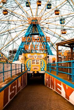 Coney Island Amusement - Wonder Wheel - Brooklyn New York - Carnival- Whimsical - 8x10 Fine Art Photograph on Etsy, $30.00