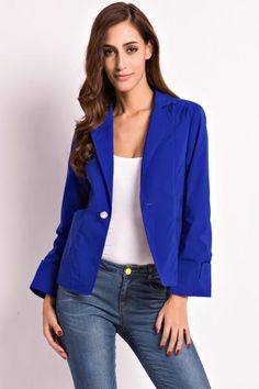 AdoreWe - oasap Chic One Button Short Suit Blazer - AdoreWe.com