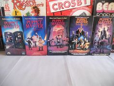 Puppet Master VHS Lot (1-5, Horror) 1989-1994, First Prints