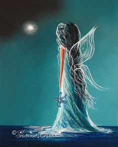 This is Aquamarine Fairy. Signed art prints for your home and office are available on my main website. http://www.shawnaerback.com/erback_art_print_859.html
