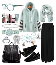"""#Hijab_outfits #Casual"" by mennah-ibrahim on Polyvore featuring Boohoo, Puma, Nine West, Origins, Tom Ford, NYX and Avon"