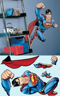 Superman Day of Doom Giant Wall Mural - Wall Sticker Outlet