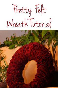 Pretty Felt Wreath Tutorial! #crafts #wreaths